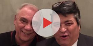 Os apresentadores Datena e Marcelo Rezende juntos