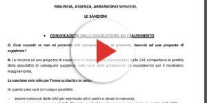 Rinuncia e sanzioni, convocazioni da graduatorie d'istituto