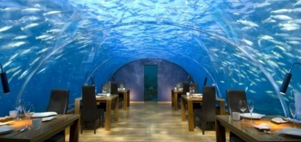 An underwater restaurant. (Image by Charly W. Karl/Flickr)