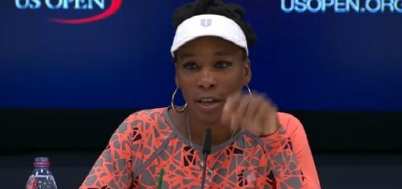 Venus Williams during a press conference at 2017 US Open/ Photo: screenshot via US Open Tennis Championships official channel on YouTube