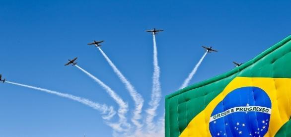 Esquadrilha da Fumaça é uma das atrações do desfile de 7 de setembro em Brasília.