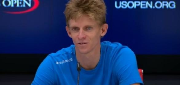 Kevin Anderson during a press conference at 2017 US Open/ Photo: screenshot via US Open Tennis Championships official channel on YouTube