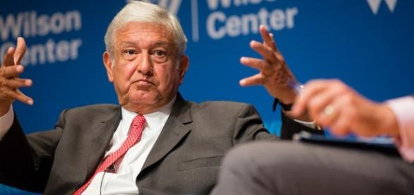 López Obrador dictó una conferencia en el Wilson Center, en Washington.