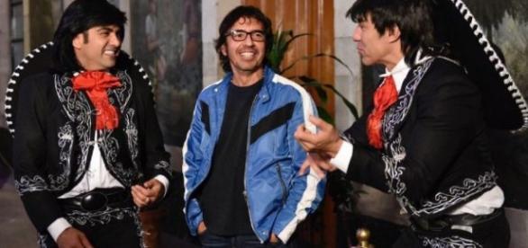 Memo del Bosque con Adrián Uribe y Ariel Bracamontes.