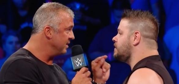 Shane McMahon and Kevin Owens got into a major altercation at the start of Tuesday's 'SmackDown Live.' [Image via WWE/YouTube]