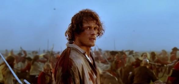 Jaime Fraser in the Battle of Culloden - Image Credit: Starz/YouTube