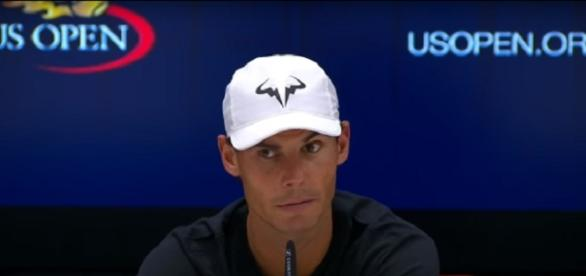 Rafa Nadal during a press conference at 2017 US Open/ Photo: screenshot via E Latifovich channel on YouTube