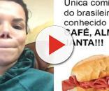 Day McCarthy postou a foto de um pão com mortadela em alusão aos brasileiros