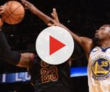 LeBron James looks forward to Warriors game - (Image: Cavs/YouTube screencap)