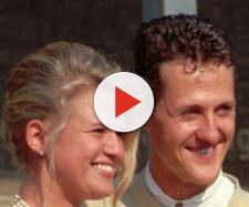 Il grande Schumi e Corinnna nel giorno del loro matrimonio