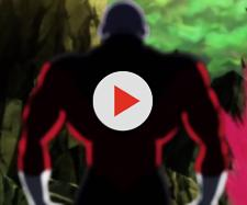 Jiren anticipating the attack from Son Goku and Vegeta. [Image via White Eagle/YouTube screencap]