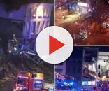 alcune immagini dell'esplosione