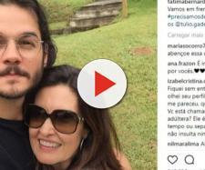Túlio Gadelha e Fátima Bernardes em foto no Instagram