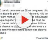 Mãe tenta doar filhas pelo Facebook (Foto: Calmon Notícias/Reprodução Facebook)