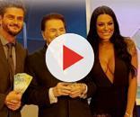 Marcos Harter, Silvio Santos e Monique Amin (Reprodução/Instagram)
