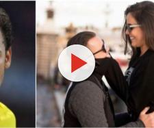 Neymar comentou em publicação do casal.