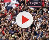 La curva dei tifosi rossoblu cagliaritani