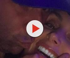 Randall Emmett kisses girlfriend Lala Kent. - [Photo via Instagram]