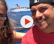 Brittany Cartwright and Jax Taylor pose on the water. [Photo via Instagram]