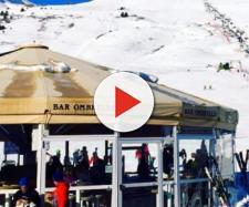 montagna, rissa al tonale al bar ombrelllo (foto Instagram)