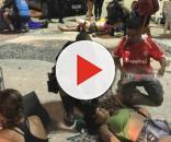 Medo e terror no começo da noite no Calçadão de Copacabana