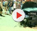 Reprodução / GloboNews - Situação do carro após atropelamento