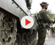 El ejercito español despliega sus tropas en la frontera de Rusia con Letonia