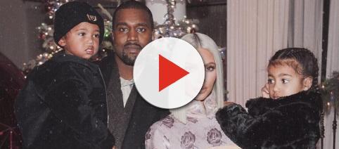 Kim Kardashian and Kanye West reveal baby name {Image via Kim Kardashian/Instagram]