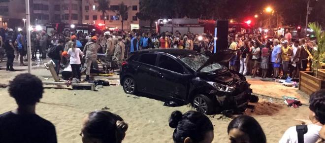 Horror en Copacabana, Brasil : Un bebé murió y 17 personas resultaron heridas