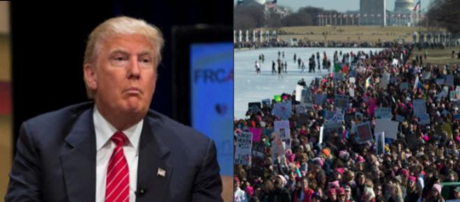 Trump tweets confusing praise of anti-Trump Women's March, humiliated on Twitter