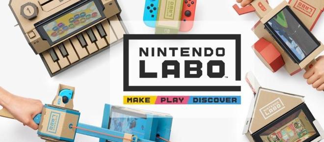 Nasce la Nintendo Labo un videogioco di cartone