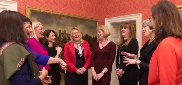 Theresa May and her new female cabinet ministers - Facebook