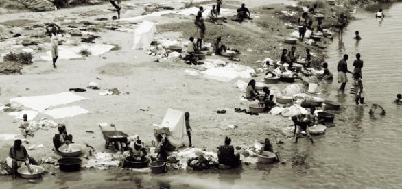 """Grenzfluss """"Dejabón"""" besser bekannt als """"Río Masacre"""" zwischen der Dominikanischen Republik und Haiti"""