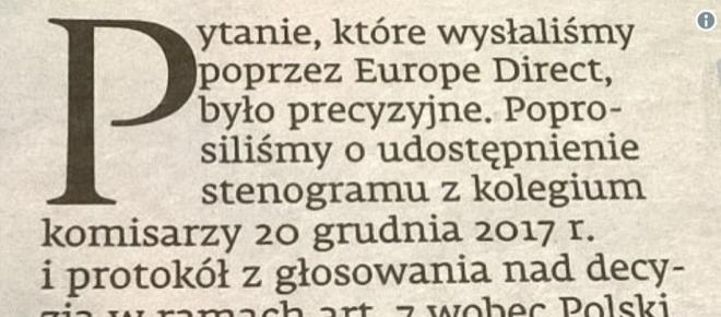 Dziennikarze zapytali Komisję Europejską o atak na Polskę. Ostra reakcja [FOTO]