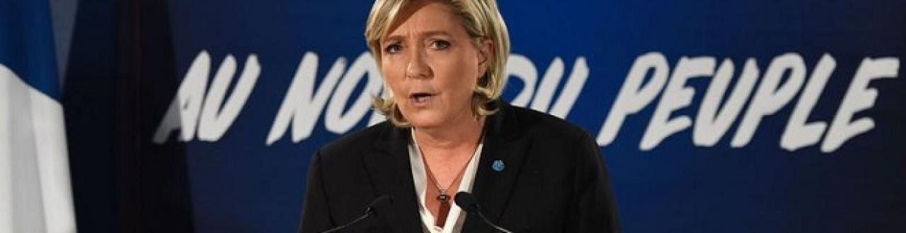 Marine Le Pen est une femme politique française, elle est l'actuelle présidente du Front National
