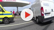 Vídeo: Para não embater contra a GNR condutor provoca acidente frontal