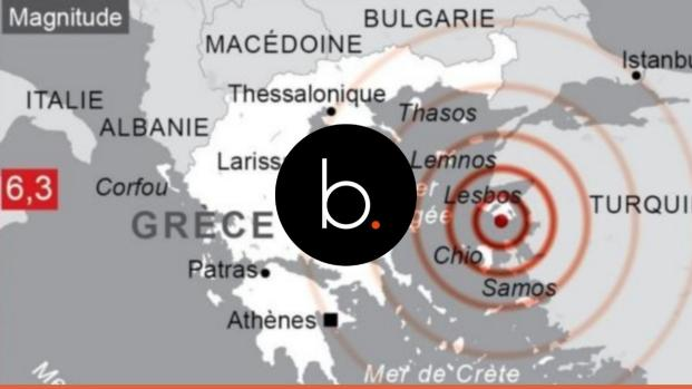Un tremblement de terre en mer Égée