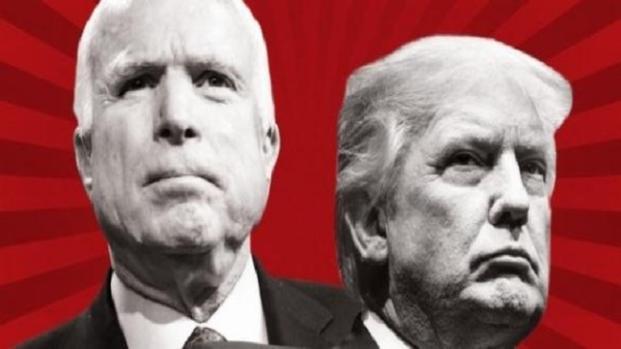 Donald Trump rend hommage à John McCain