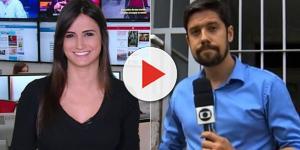 É do JN: repórter gata da Globo namora com 'clone' de Bonner e foto impressiona
