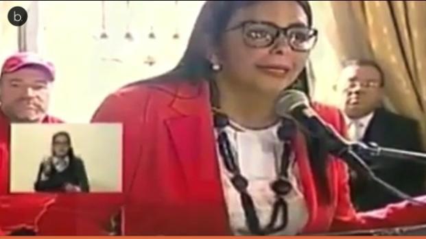 Delcy Rodríguez niega la crisis en Venezuela