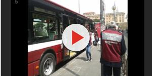 VIDEO: Roma: botte da orbi tra l'autista del bus e un automobilista, video