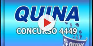 Resultado da Quina, 4449: sorteio desta segunda-feira (07)