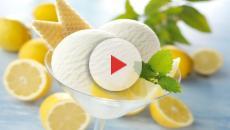 Gelato al limone Siciliano artigianale.