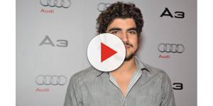 Caio Castro faz as pazes com Faustão ao vivo: 'Desculpa, você é meu irmão'