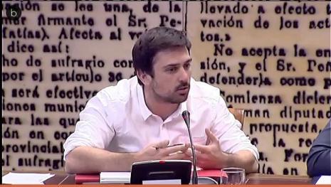 Ramón Espinar censura a Felipe VI