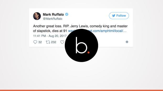 Mark Ruffalo among those remembering Jerry Lewis