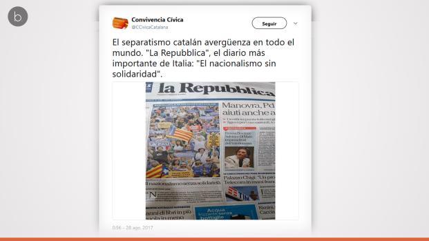 El separatismo catalán se cuela hasta en las protestas contra el terrorismo