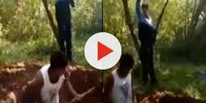 Vídeo mostra primos cavando própria cova a mando do PCC antes de tiros na cara
