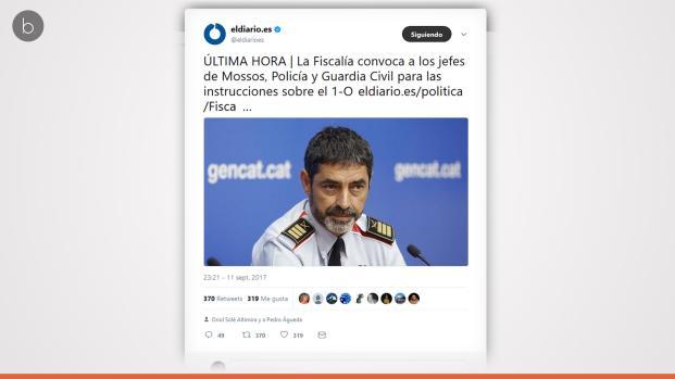 1-O: Refuerzo policial en Cataluña