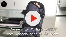 Comovente: William Bonner está usando cadeira de rodas